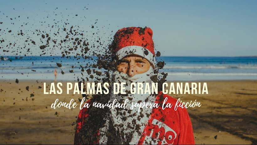 Santa on the wave in Las Palmas